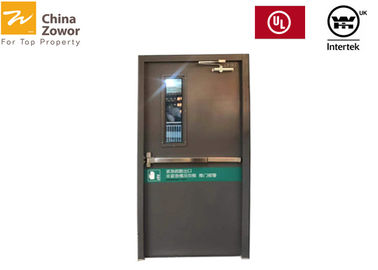 UL Certified 1 Hour Rated Fire Safety Door Fire Exit Door With Vision Panel/ Customized Size