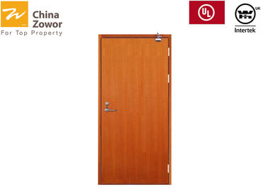 Customized Size 1.5hr Wooden Fire Doors For Hotel/ Melamine Finish/Perlite Board Filler